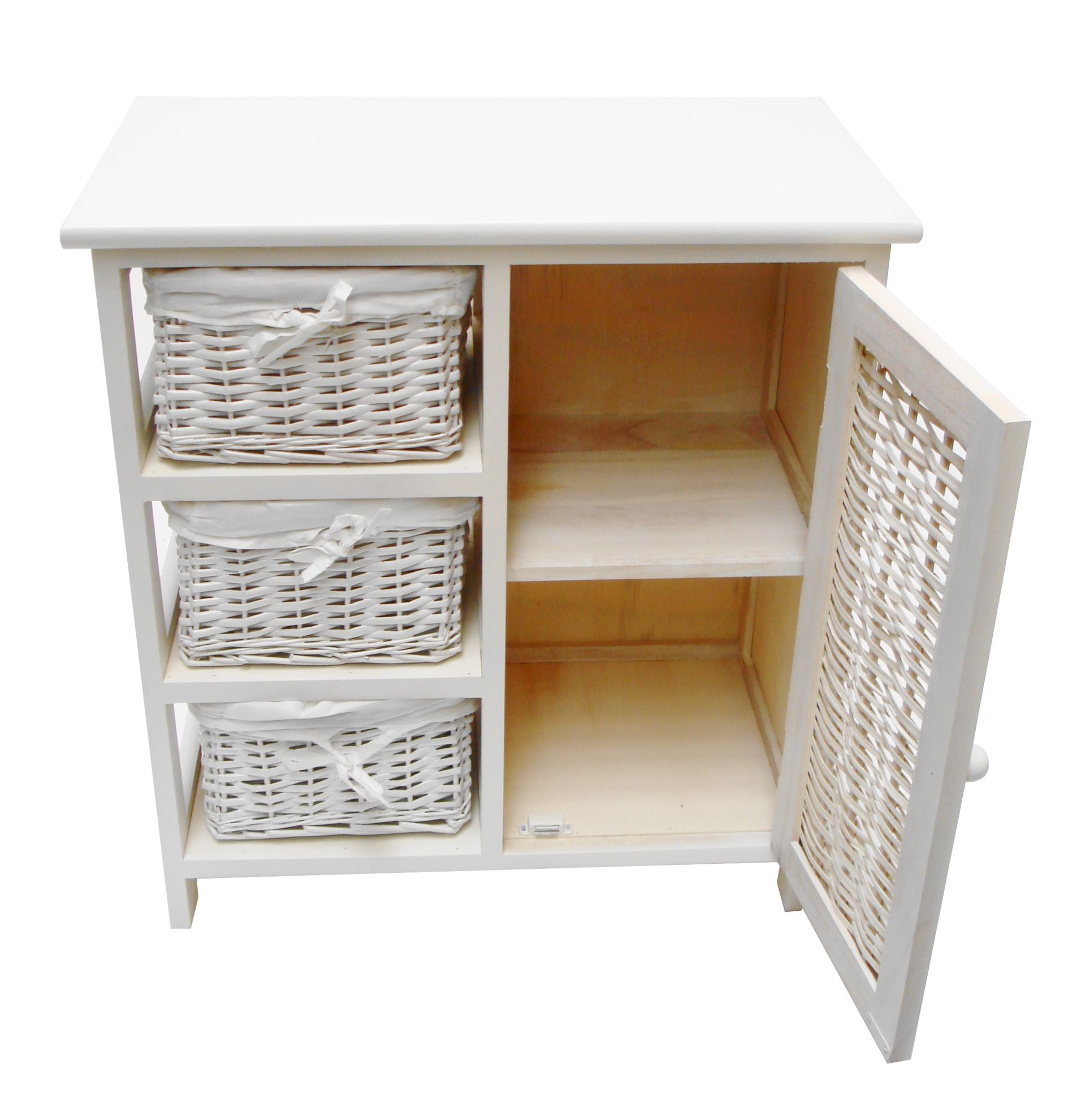 3 Chest Of Drawers With Cupboard Bedside Table Bathroom Storage Unit Cabinet 3drcup2hez W