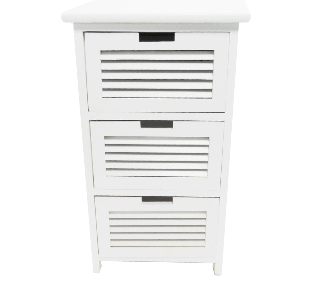 Assembled white 3 chest of drawers bedside table bathroom Bathroom storage cabinet with drawers