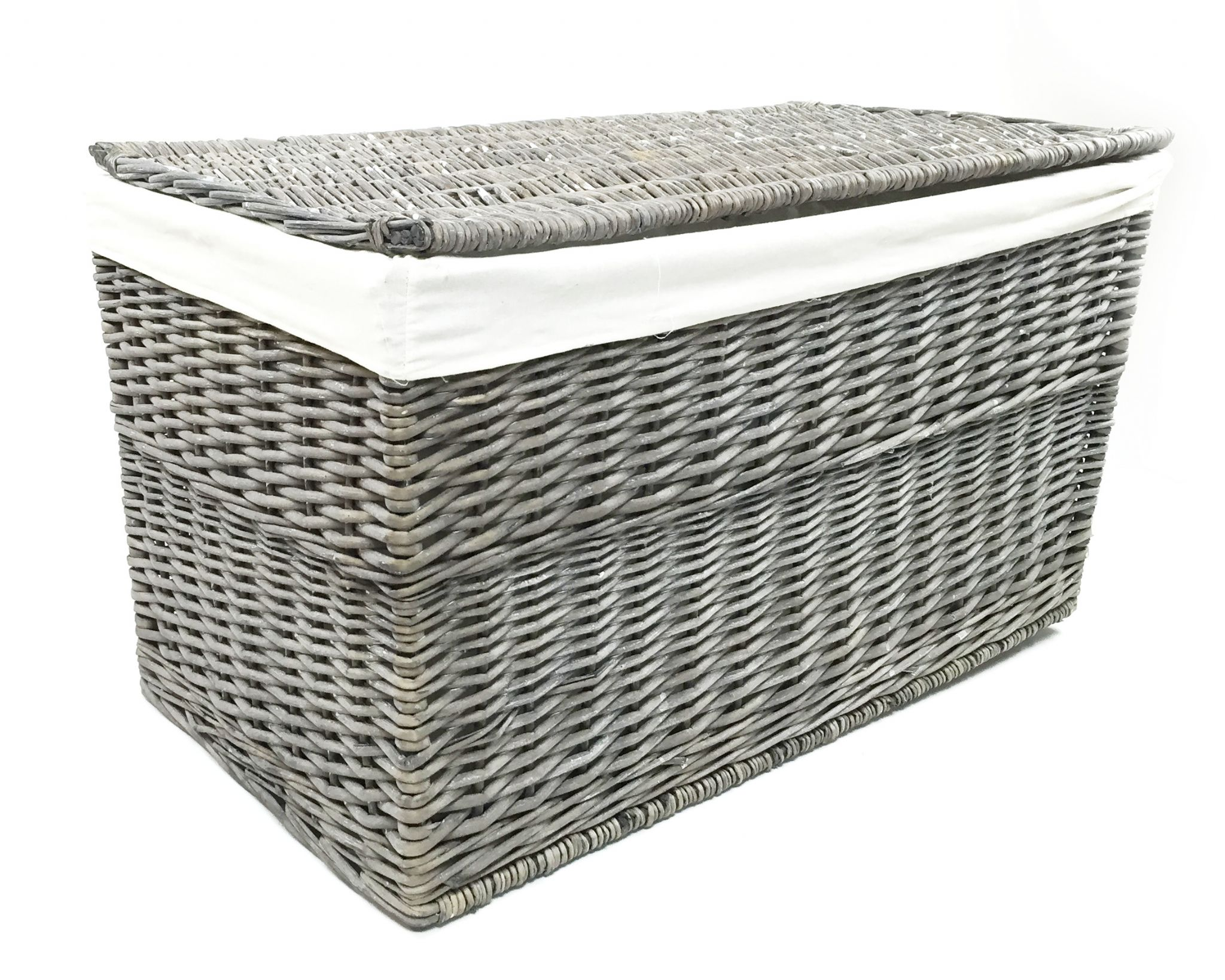 Large Strong Wicker Baby Nursery Storage Chest Trunk Blanket Box
